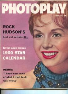 Photoplay-Debbie Reynolds-Marlon Brando-Frankie Avalon-Donna Reed-Feb-1960
