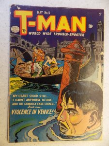T-MAN # 5 DC GOLDEN AGE ACTION ADVENTURE DETECTIVE CRIME