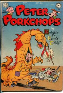 Peter Porkchops #12 1951-DC-lKnights of The Round Table-dragon-FN