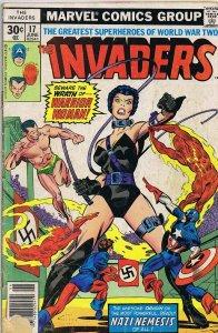 Invaders #17 ORIGINAL Vintage 1977 Marvel Comics Intro Warrior Woman
