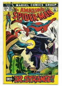 Amazing Spider-Man #109 NM High Grade Marvel Bronze Age Dr. Strange App. 1972