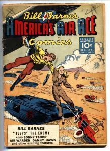 BILL BARNES AMERICA'S AIR ACE #5-1942-WWII Nazi cover-Golden-Age