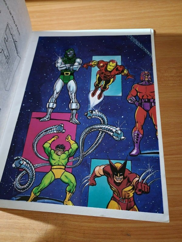 Marvel Super Heroes Secret Wars Coloring Activity Book + Poster ~ NOT USED 1984