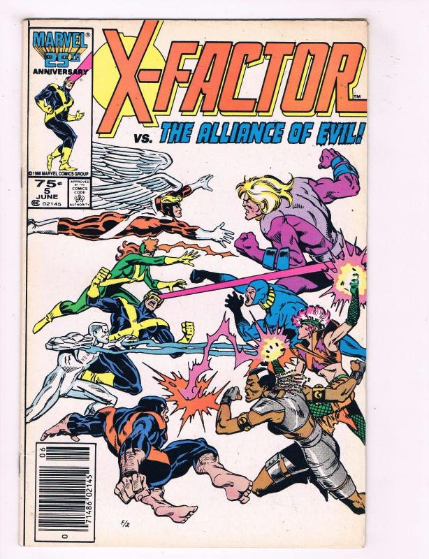 X-Factor # 5 FN/VF Marvel Comic Book 1st Appearance Of Apocalypse KEY XMEN J35
