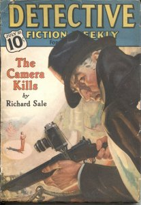 Detective Fiction Weekly Pulp CRIME-JULY 31 1937-CAMERA COVER-CANDID JONES STORY