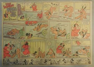 Pluto The Pup Sunday Page by Walt Disney from 4/28/1940 Half Page Size