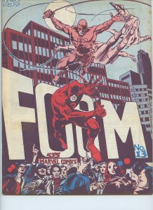 FOOM (1973 Marvel) #13 - Marvel Comics - DAREDEVIL ISSUE! Gene Colan, Wally Wood