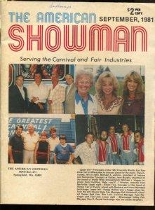 American Showman 9/1981--Carnival & Fair industry mag-Knoxville World's Fair ...