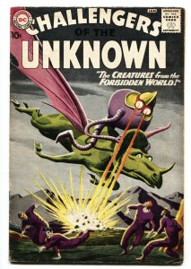 CHALLENGERS OF THE UNKNOWN #11 greytone cover-DC comic book FN