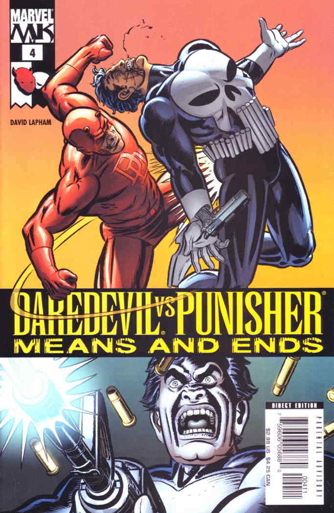 Select Your Issue Punisher Multiple Listings Means and Ends Daredevil vs