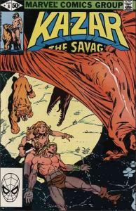 Marvel KA-ZAR THE SAVAGE #6 VF