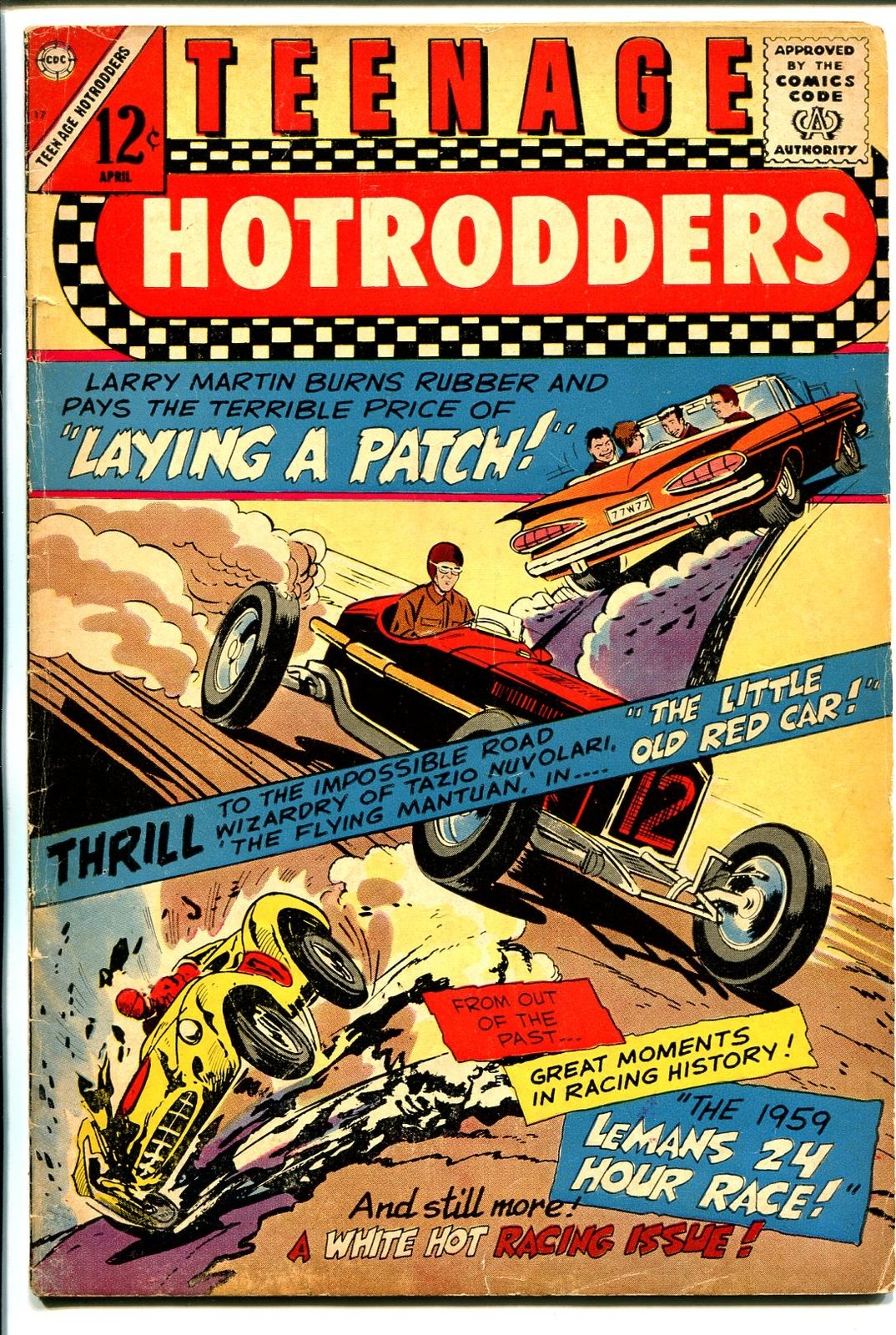 Teenage Hotrodders #17 1966-Charlton-1959 Chevy Impala convertible ...