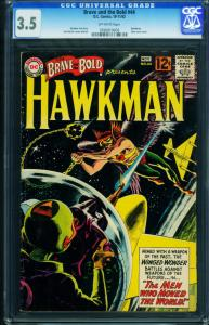 The Brave and the Bold #44 CGC 3.5- Hawkman- Black cover- Silver Age 0936819009