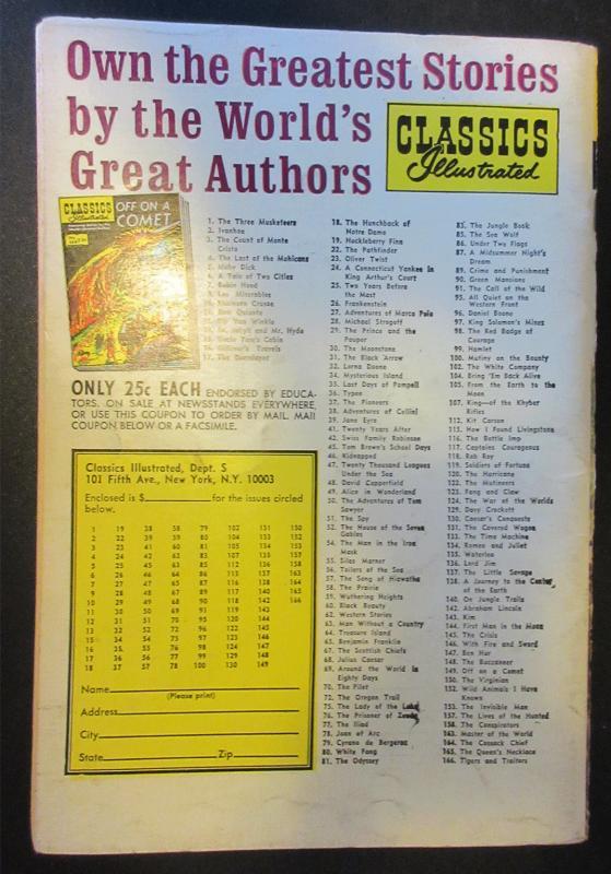 Classics Illustrated #19 HRN166 (25 cents) - Huckleberry Finn  VG+ 4.5