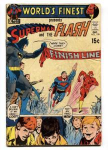 WORLDS FINEST #199 1970-Superman vs. Flash comic book DC VG