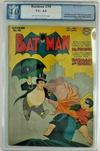 Batman #38~1946 DC~PGX 4.0 (VG)~The Penguin on Parole