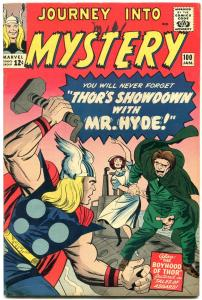 JOURNEY INTO MYSTERY #100 1963-THOR-MR HYDE-KIRBY-FOX   VF-