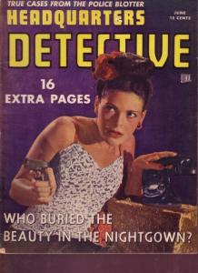 HEADQUARTERS DETECTIVE 1946 JUNE GUN MOLL PHOTO COVER VG