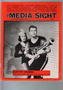 Media Sight-Summer 1983-Buster Crabbe-W.C. Fields-Bill Woggon-Capt Marvel_VG