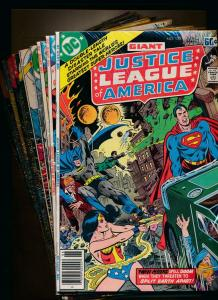 DC LOT-JUSTICE LEAGUE OF AMERICA#155-158,164,168,169,173,177,178,181,182(PF151)