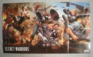 SECRET WARRIORS Promo Poster, Captain America, Unused, more in our store