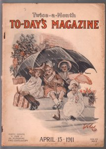 To-Day's Magazine 4/15/1911-E.G. Waskov cover art-pulp fiction-FN