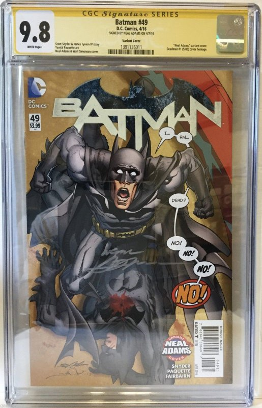Batman # 49 CGC 9.8 SS