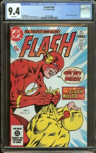 Flash 324 CGC 9.4   Death of Reverse Flash   White Pages