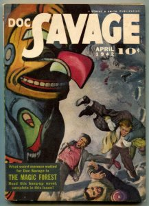Doc Savage Pulp April 1941- Magic Forest- Totem Pole cover