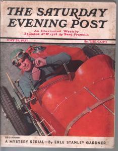 Saturday Evening Post 5/29/1937-Erle Stanley Gardner-Perry Mason-pulp fiction-VG