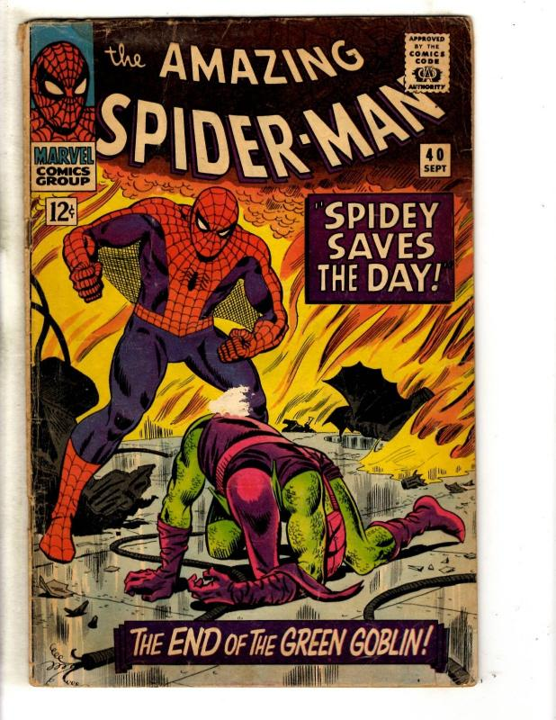 Amazing Spider-Man # 40 VG- Marvel Comic Book Goblin Silver Age Stan Lee JG9