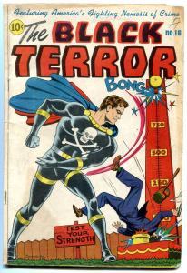The Black Terror #16 1946-Schomburg Circus cover- Nedor Golden Age VG