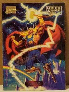 1994 Marvel Masterpieces Gold Foil Signature Series #124 Thor/Hilderbrandt