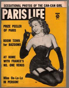 Paris Life #24 3/1956-Charlton-Luscious Lilo cover-showgirls-pin-ups-FN