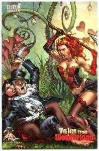 GRIMM FAIRY TALES from Wonderland Queen of Hearts vs Mad Hatter, NM,2010,El Paso