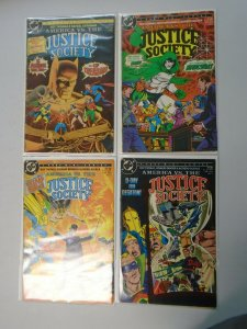 America vs the Justice Society set #1-4 4.0 VG (1985)