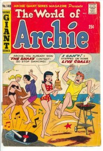 Archie Gian Series #148 1967-World of Archie-Betty-Veronica-record player cov...