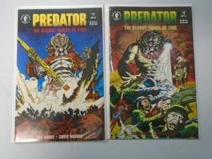 Predator The Bloody Sands of Time set #1+2 8.0 VF (1992 Dark Horse)