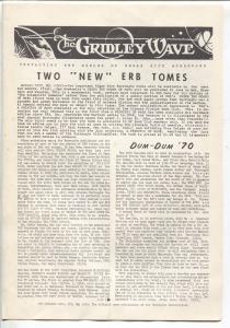Gridley Wave #27 1970-Burroughs Bulletin-ERB & Tarzan fanzine-FN