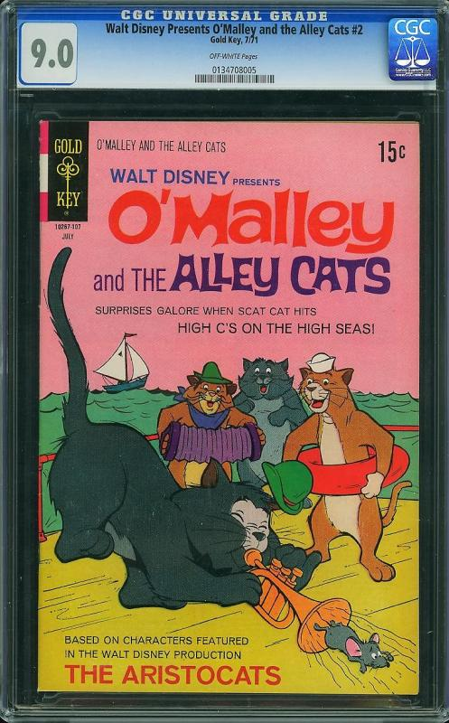 O'Malley and the Alley Cats #3 (Gold Key, 1971) - Highest Graded