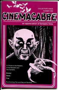 Cinemacabre #1 Winter 1975-1st issue-Time Machine-Dracula-horror fanzine-VF