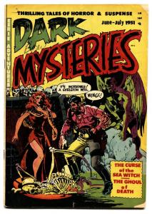Dark Mysteries #1 1951-SKULL cover-First issue-Wally Wood