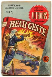 Stories by Famous Authors Illustrated #5 1950- BEAU GESTE- Kiefer cover