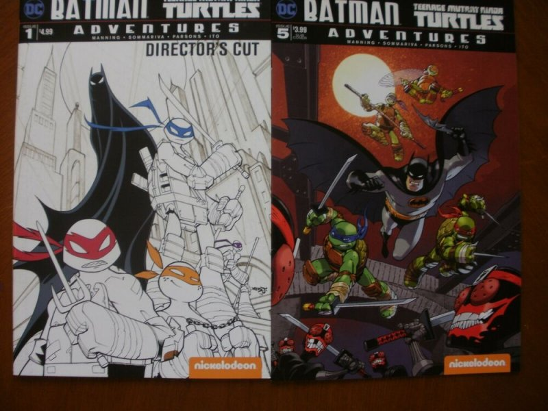 2 DC Comic BATMAN TEENAGE MUTANT NINJA TURTLES ADVENTURES #1 (Director Cut) #5