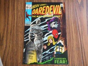 DAREDEVIL # 54 HIGH GRADE GEM!! BEAUTIFUL GENE COLAN COVER! SPIDER-MAN APP WOW!