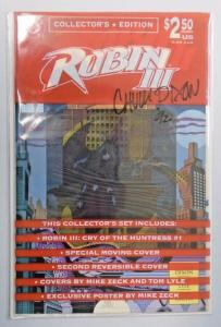 Robin 3 Cry of the Huntress Collector's Set #1 - signed - 8/5/VF+ (1992)