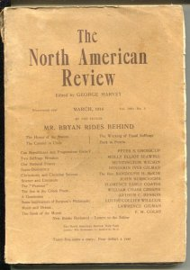 North American Review 3/1914-100+ years old-pulp format-G/VG