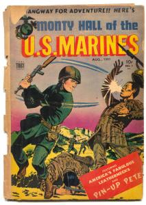 Monty Hall Of The Us Marines #1 1951- Canadian- Pin-ups FAIR