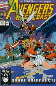 Avengers West Coast #68 FN; Marvel | save on shipping - details inside