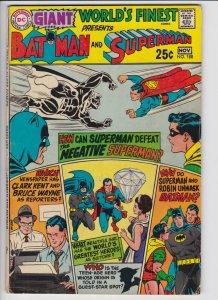 World's Finest #188 (Nov 1969) 3.5 VG- DC Giant Batman